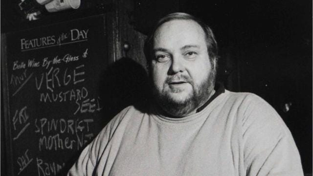 In death, legendary bar owner picks up the tab.