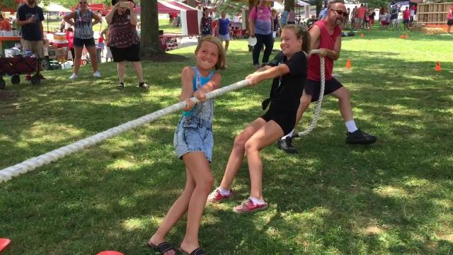 Fort Thomas celebrated the city's 150th anniversary July 4 with old-fashioned contests for eating prowess, facial hair and feats of physical prowess.