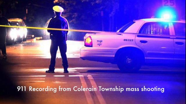 Nine people were shot, one of whom died, at a home on Capstan Drive in Colerain Township Saturday. Some profanity included.