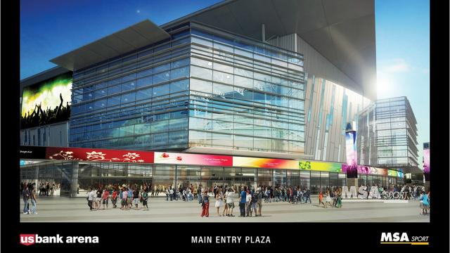 Nederlander Entertainment is pitching a sales tax to pay for a $370 million renovation of U.S. Bank Arena, located on Cincinnati's riverfront.