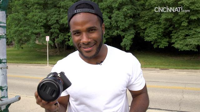 Giovani Bernard behind the camera for Cincinnati photoshoot