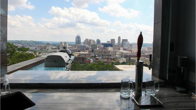 A family built a modern home with Downtown views in Mount Auburn.