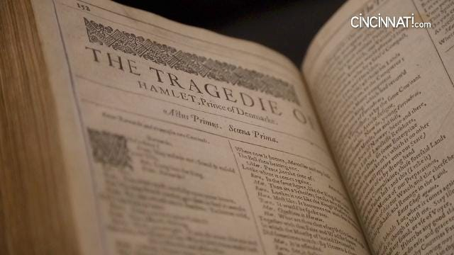 The First Folio, published in 1623, is the book that preserved 36 of Shakespeare's plays after his death in 1616.
