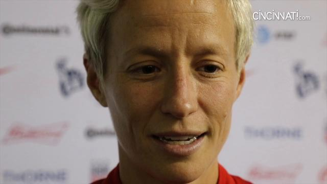US National Team midfielder Megan Rapinoe post game