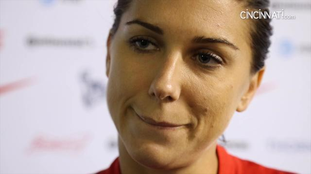 Alex Morgan post game in Cincinnati