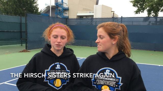 Scott Springer with the 2017 Indian Hill girls tennis team