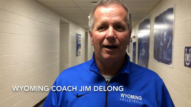Scott Springer on the 2017 Wyoming volleyball team.
