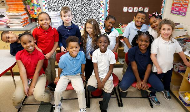 Students in Nikki Fantetti's first grade class at North College Hill Elementary tell their thoughts about the 1st Thanksgiving. The Enquirer/Cara Owsley