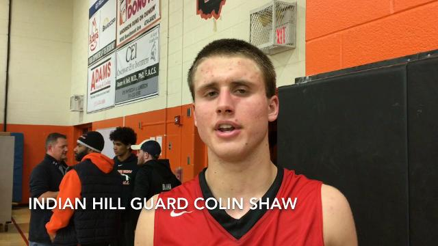 Scott Springer with Indian Hill guard Colin Shaw