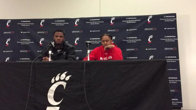 Watch: UC players Moore, Jenifer recap rout of UCF