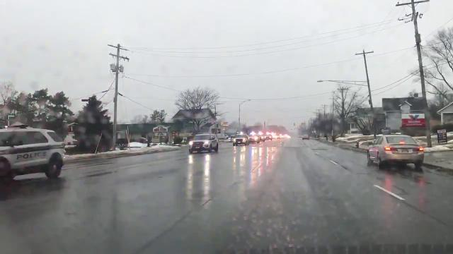 Police procession for fallen Westerville officers