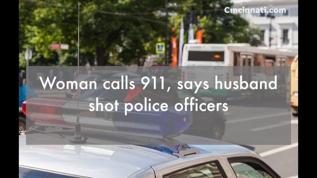 A woman calls 911 frantically asking for help after saying that her husband shot police officers and that her one-year-old daughter is still in the house.
