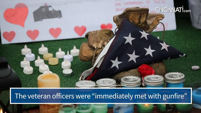 Residents of Westerville, Ohio, mourn in the wake of the killing of police officers Anthony Morelli and Eric Joering.