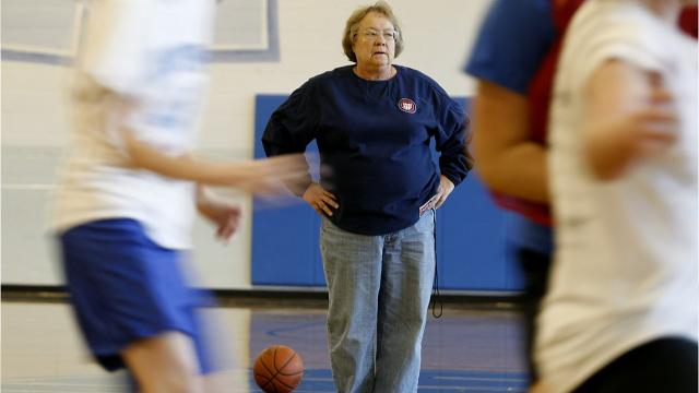 Mary Jo Huismann has been Mercy's basketball coach for 46 seasons. She's the only basketball coach the school has ever had. On Feb. 5, 2018, she coached her final home game.
