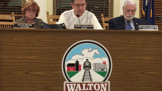Walton Mayor Mark Carnahan offered to pay back money for city workers removing a tree stump from his home's yard. The mayor of Boone County's smallest city maintains he did nothing wrong.