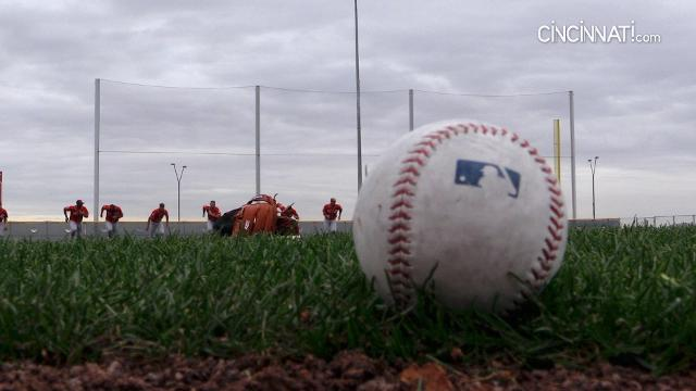 Sights from the third day of Cincinnati Reds pitchers and catchers working out in Goodyear, Arizona.