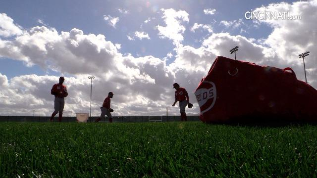 Sights from Reds full-squad workout