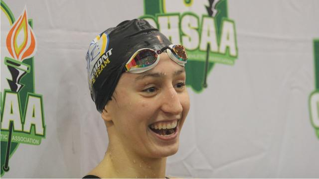VIDEO: Dupre, Callard lead local ladies at state swimming