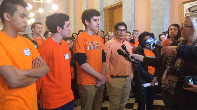 Walnut Hills student speak at the Statehouse