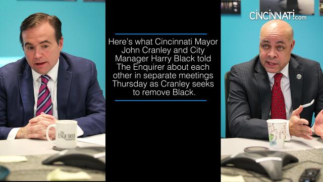 Mayor Cranley and City Manager Harry Black discuss their feud with the editorial staff at The Enquirer.