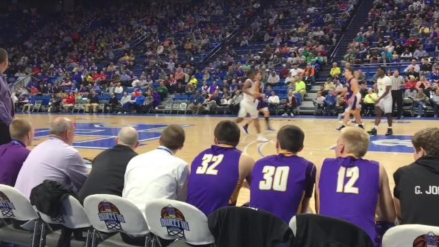Campbell County boys basketball notched its first-ever state tournament win Thursday afternoon.