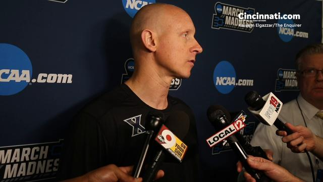 Xavier Musketeers head coach Chris Mack discusses the team's second-round game against No. 9 seed Florida State.