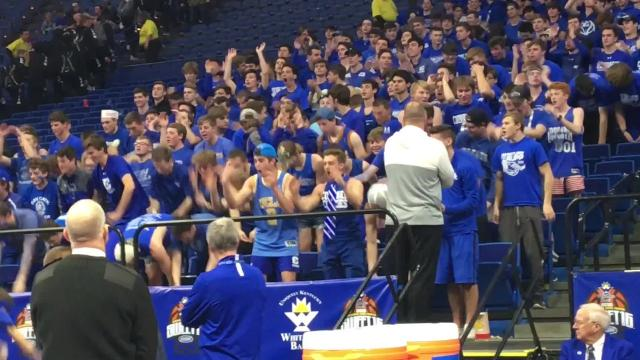 The Covington Catholic student section is in state championship form during the Sweet 16.