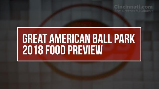 Great American Ball Park food preview day