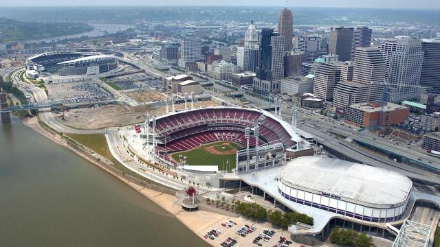 A visual history of Cincinnati stadiums then and now.