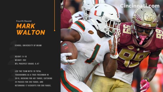 Cincinnati Bengals Draft Mark Walton Out Of The University Of Miami