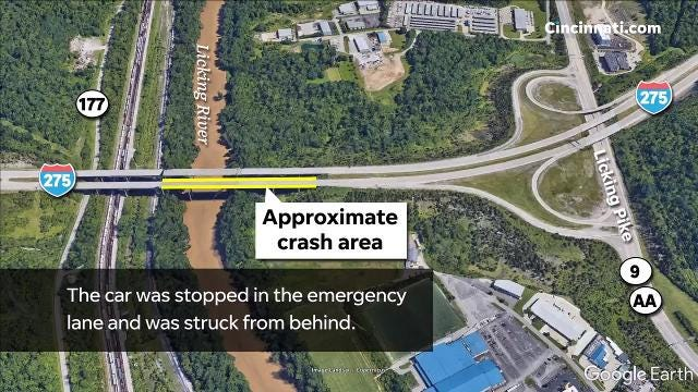 A 4-year-old boy was killed May 2 near Taylor Mill, Ky., in a crash on the I-275 Licking River bridge.