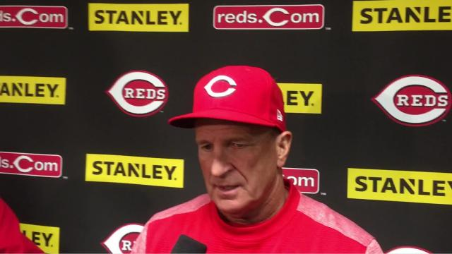 Reds interim manager Jim Riggleman talked about Tyler Mahle's pitching in a 6-0 loss to the Marlins.