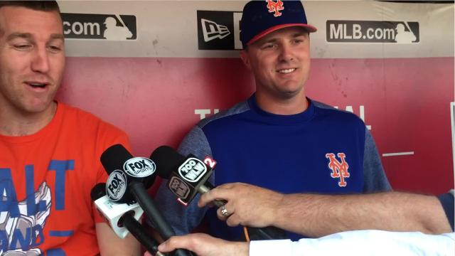 New York Mets outfielder Jay Bruce, playing against his former team for the second time, says his walk-off, division-clinching homer in 2010 ranks at the top of his baseball memories.