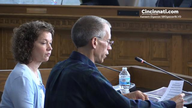 Ron Plush, father of Kyle Plush, who died in the parking lot at Seven Hills School in April 2018, and Chief Eliot Isaac address, the investigation at Cincinnati City Council. The Enquirer/Kareem Elgazzar
