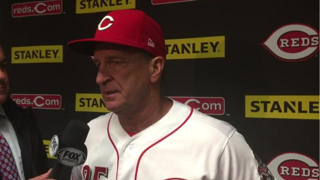 Reds Interim Manager Jim Riggleman discusses Homer Bailey's rough start against the Cubs and saving the bullpen for Saturday's doubleheader.