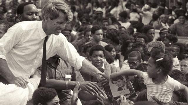 Kathleen Kennedy Townsend, the oldest of Robert and Ethel Kennedy's 11 children, speaks to her father's enduring popularity and the affection people from varied racial and social backgrounds held for him.