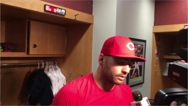 Watch: Reds' Joey Votto discusses sweep of Cubs
