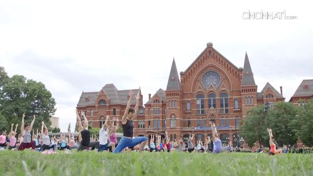 The CSO and the Yoga Bar hosted an outdoor yoga event at Washington Park with live music from the CSO.