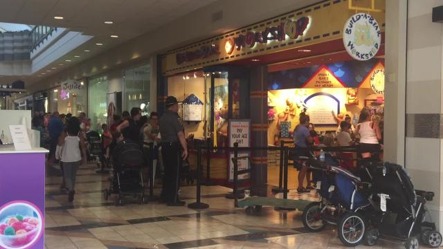 Build-A-Bear drew long lines for its special, one-day promotion of pay-your-age.
