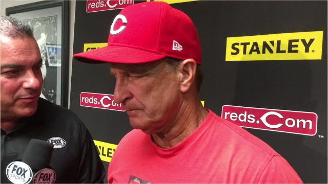 Reds manager Jim Riggleman on the Reds' 2-1, 11-inning walkoff win.