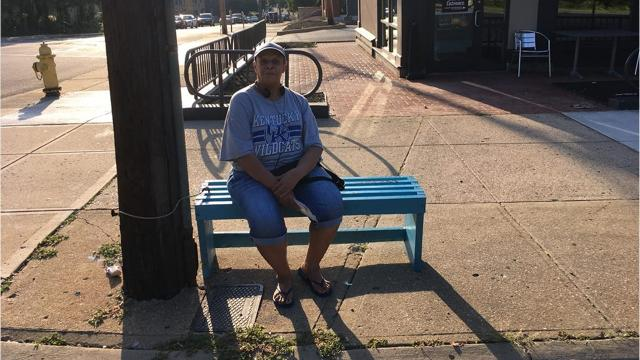 After Brian Garry sponsored a new bus bench in Clifton, he went to talk to people using it.