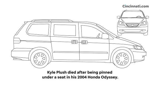 Kyle Plush died after being pinned under a seat in his 2004 Honda Odyssey. Video updated November 15, 2018.