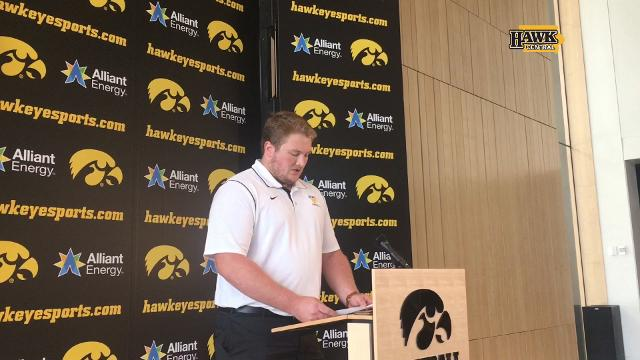 The Iowa senior guard says football 'went from a source of purpose to a source of apathy'