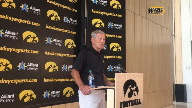 Coach Kirk Ferentz foresees a big impact from transfer tailback James Butler.