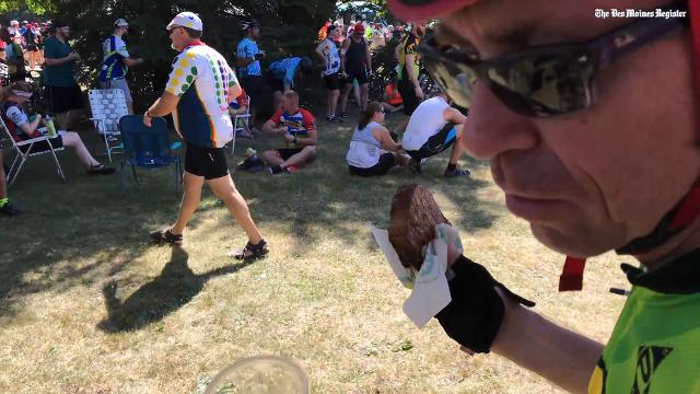 Mr. Pork Chop remembered on RAGBRAI in Curlew