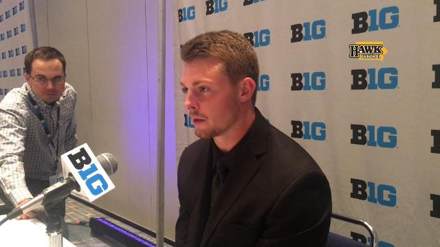 The Hawkeyes' wide receiver has been an interested observer.