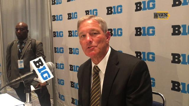 Iowa's head coach says rehabbing an injury is as much a psychological challenge as a physical one.