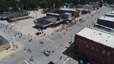 Fly along the RAGBRAI route into Garner