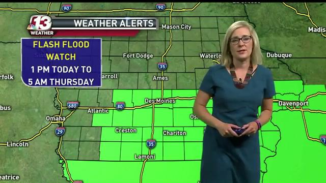 WHO-HD forecast: Heavy rain starts in early afternoon