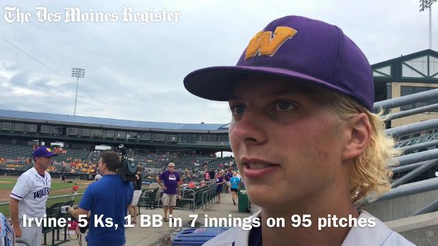 Drew Irvine, Waukee's junior righty, threw a complete game to help the Warriors to a 1-0 win over Cedar Rapids Prairie on Wednesday.